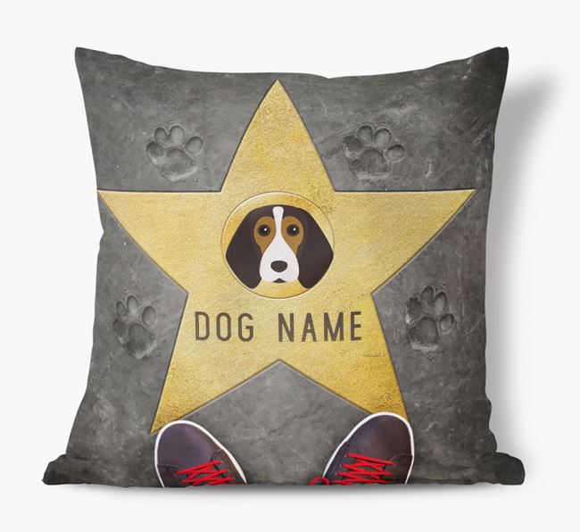 'Star of Fame' - Personalised Beagle Soft Touch Cushion