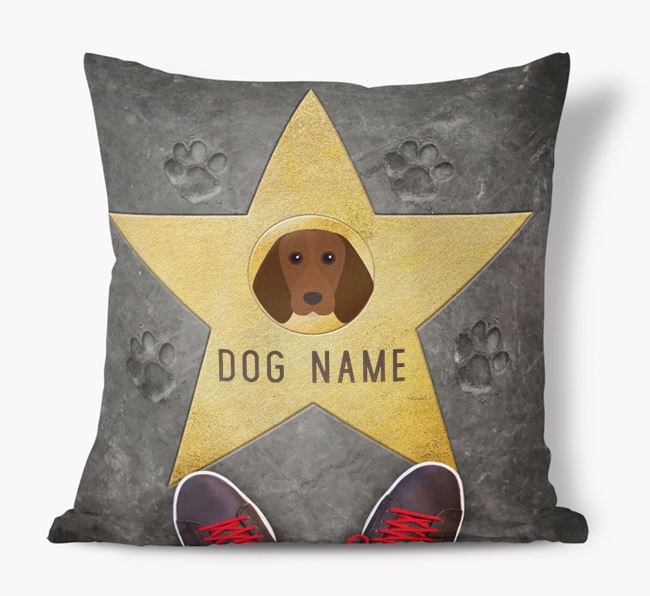 'Star of Fame' - Personalized Beagle Soft Touch Cushion