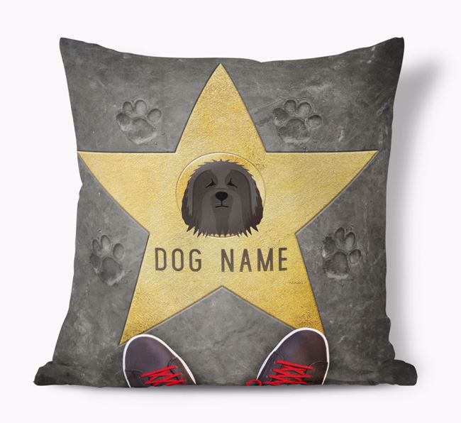 'Star of Fame' - Personalized Bearded Collie Soft Touch Cushion
