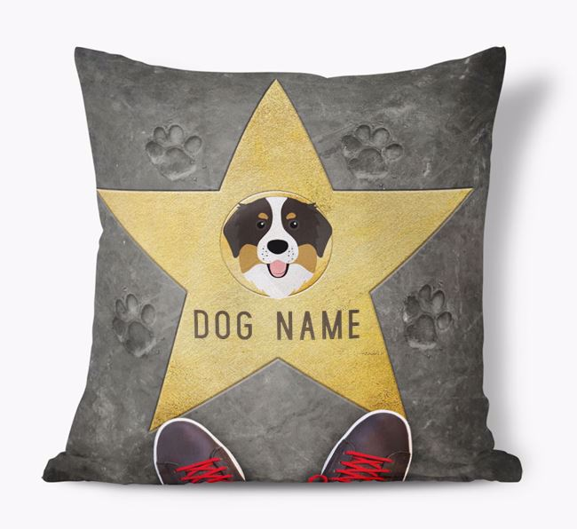 'Star of Fame' - Personalized Bernese Mountain Dog Soft Touch Cushion
