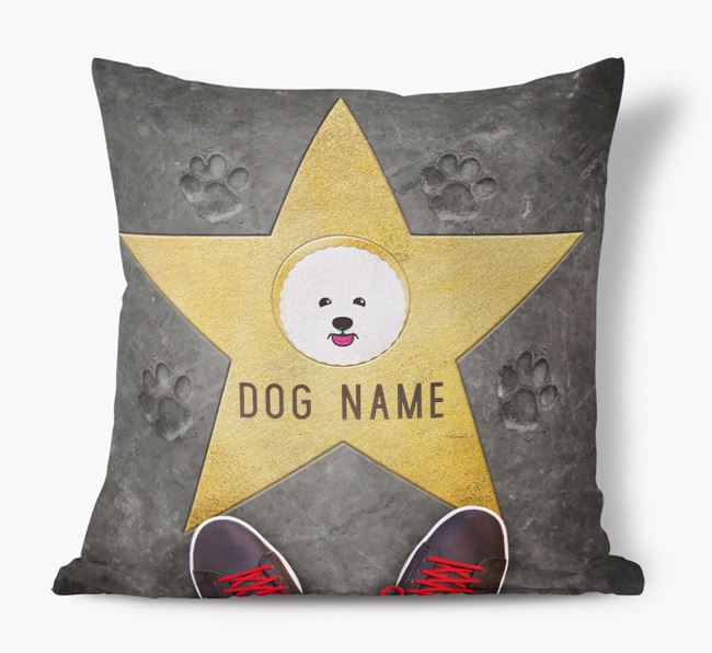 'Star of Fame' - Personalized Bichon Frise Soft Touch Cushion
