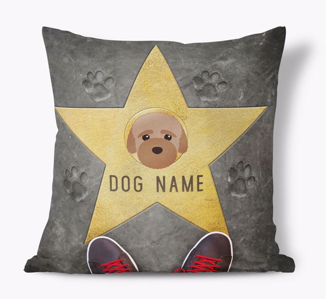 'Star of Fame' - Personalized Bich-poo Soft Touch Cushion