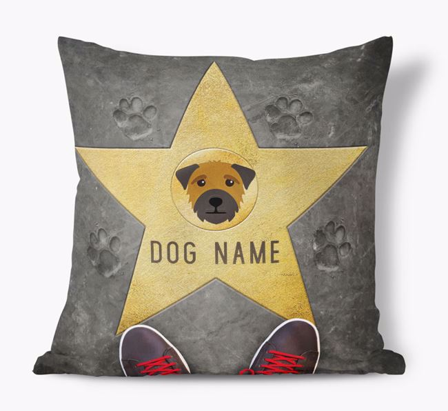 'Star of Fame' - Personalized Border Terrier Soft Touch Cushion