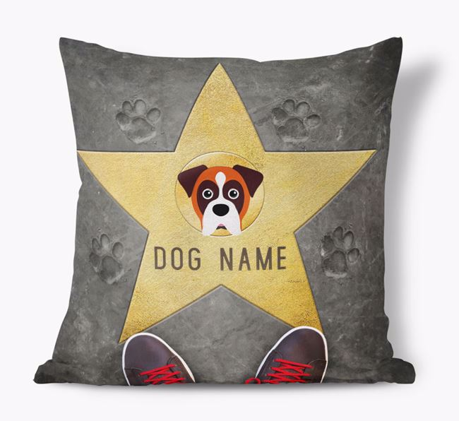 'Star of Fame' - Personalized Boxer Soft Touch Cushion