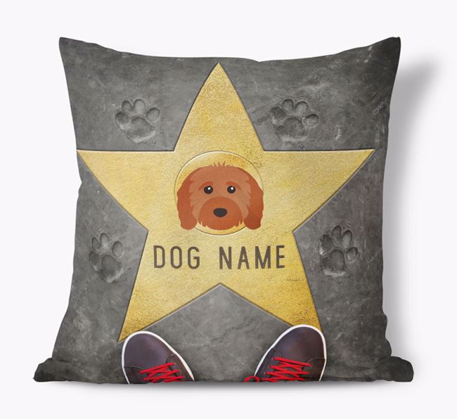 'Star of Fame' - Personalized Cavapoo Soft Touch Cushion