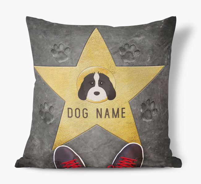 'Star of Fame' - Personalised Cockapoo Soft Touch Cushion