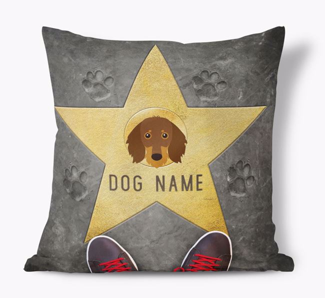 'Star of Fame' - Personalized Dachshund Soft Touch Cushion