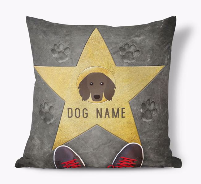 'Star of Fame' - Personalised Dachshund Soft Touch Cushion