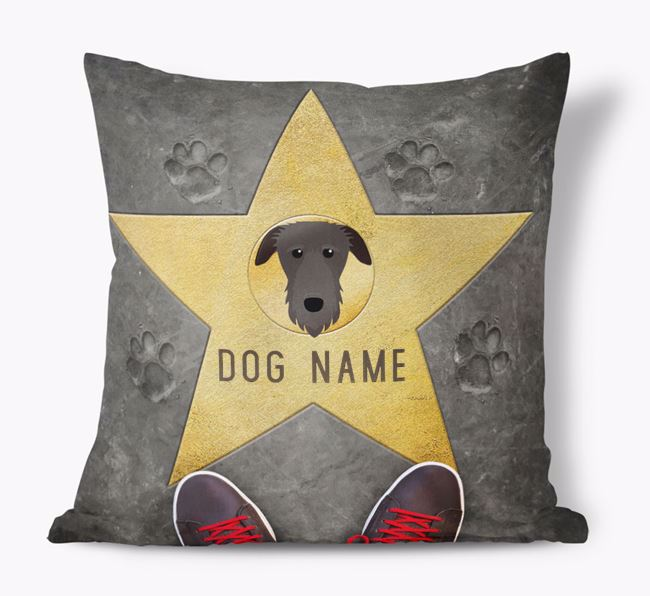 'Star of Fame' - Personalized Deerhound Soft Touch Cushion