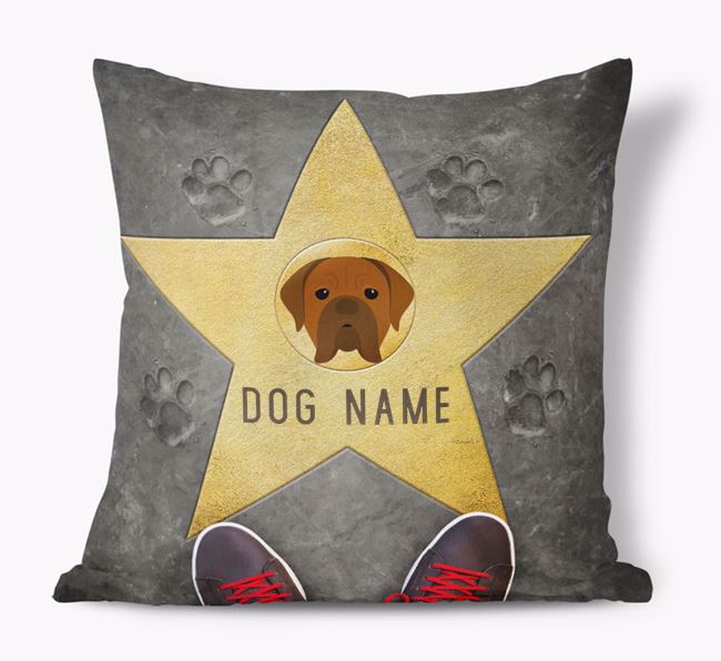 'Star of Fame' - Personalized Dogue de Bordeaux Soft Touch Cushion