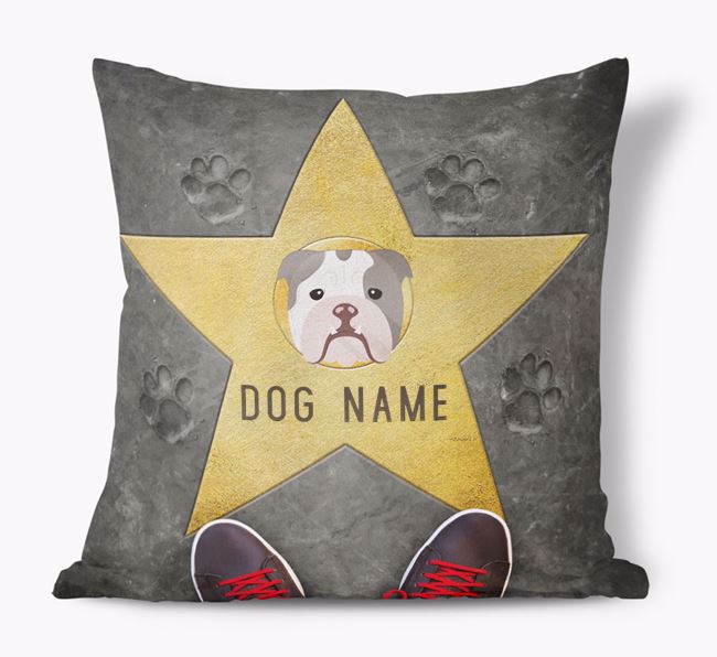 'Star of Fame' - Personalized English Bulldog Soft Touch Cushion