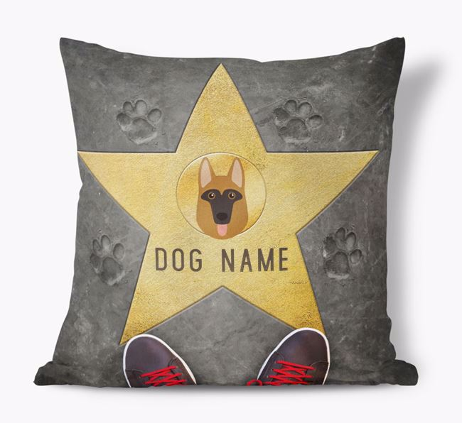 'Star of Fame' - Personalized German Shepherd Soft Touch Cushion