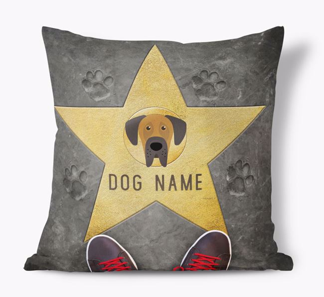 'Star of Fame' - Personalized Dog Soft Touch Cushion