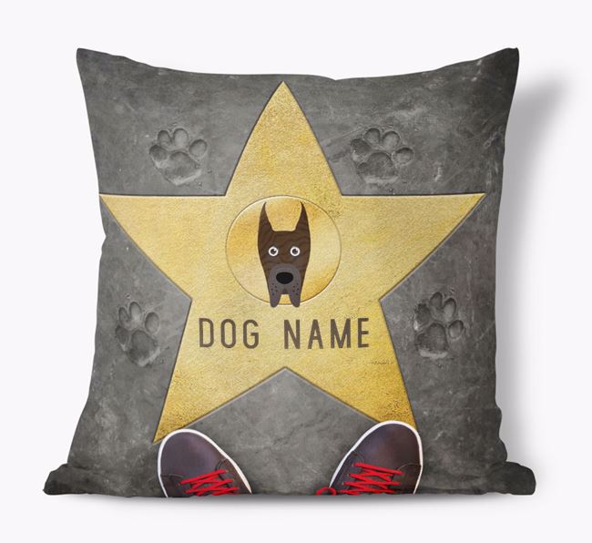 'Star of Fame' - Personalized Great Dane Soft Touch Cushion