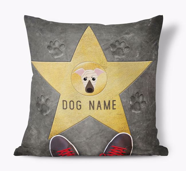 'Star of Fame' - Personalized Greyhound Soft Touch Cushion
