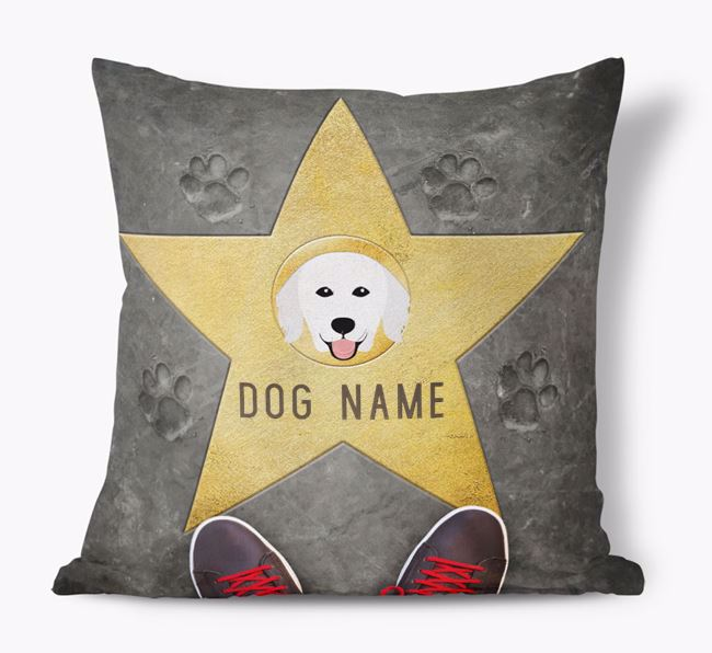 'Star of Fame' - Personalized Hungarian Kuvasz Soft Touch Cushion