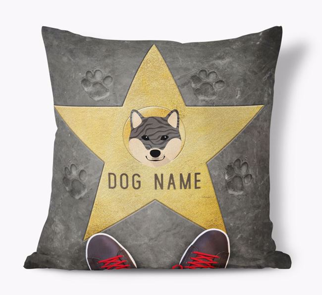 'Star of Fame' - Personalised Japanese Shiba Soft Touch Cushion