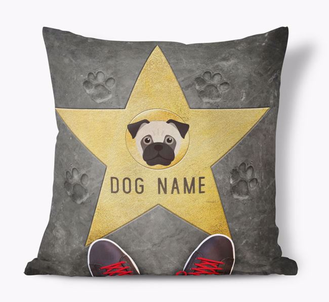 'Star of Fame' - Personalized Jug Soft Touch Cushion