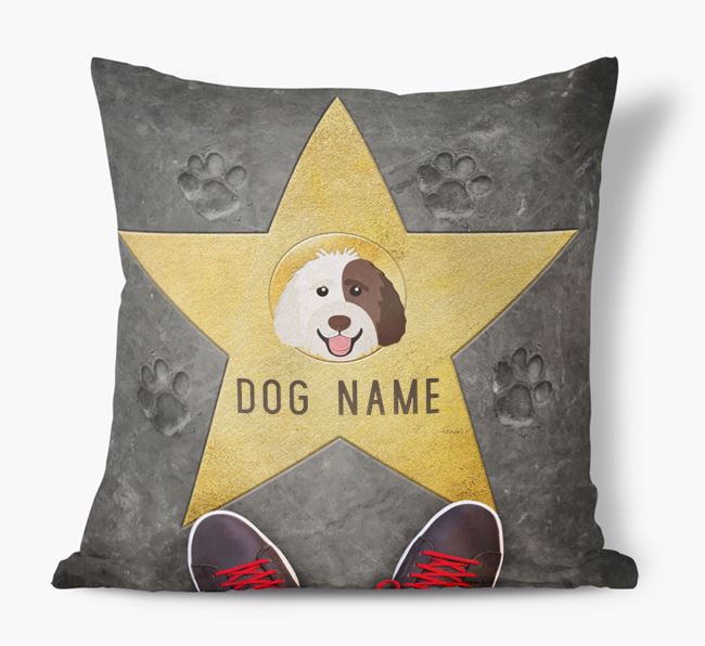 'Star of Fame' - Personalized Labradoodle Soft Touch Cushion