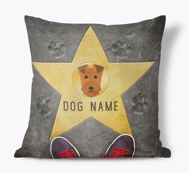 'Star of Fame' - Personalized Lakeland Terrier Soft Touch Cushion
