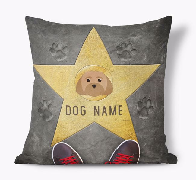 'Star of Fame' - Personalized Malti-Poo Soft Touch Cushion