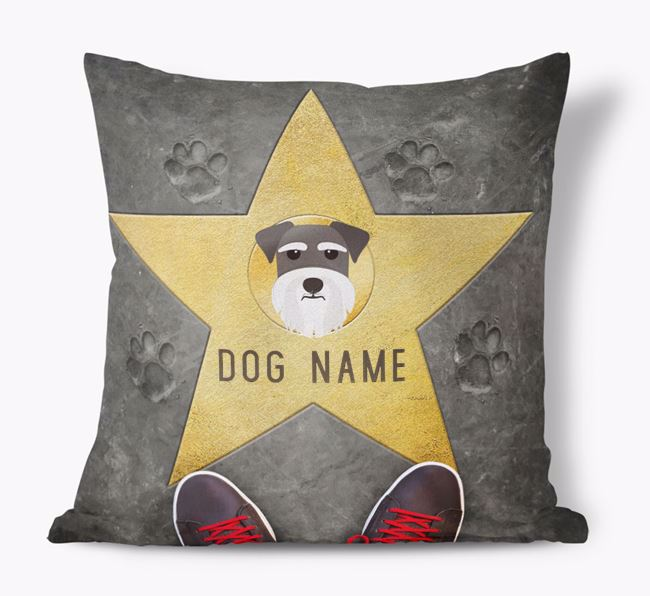 'Star of Fame' - Personalized Miniature Schnauzer Soft Touch Cushion