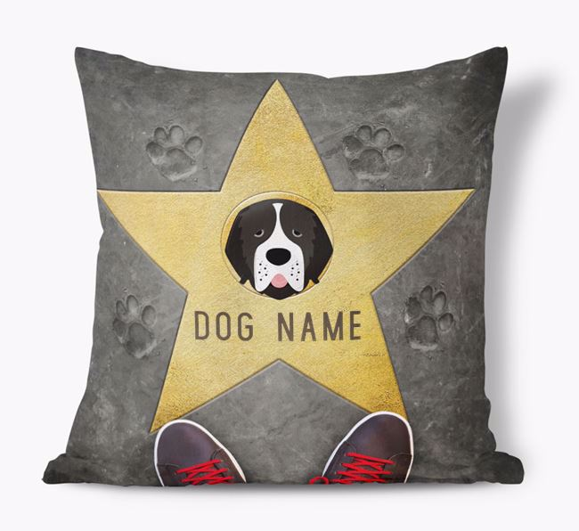 'Star of Fame' - Personalized Newfoundland Soft Touch Cushion