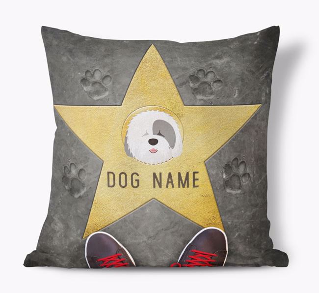'Star of Fame' - Personalized Old English Sheepdog Soft Touch Cushion