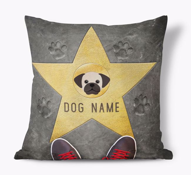 'Star of Fame' - Personalized Puggle Soft Touch Cushion