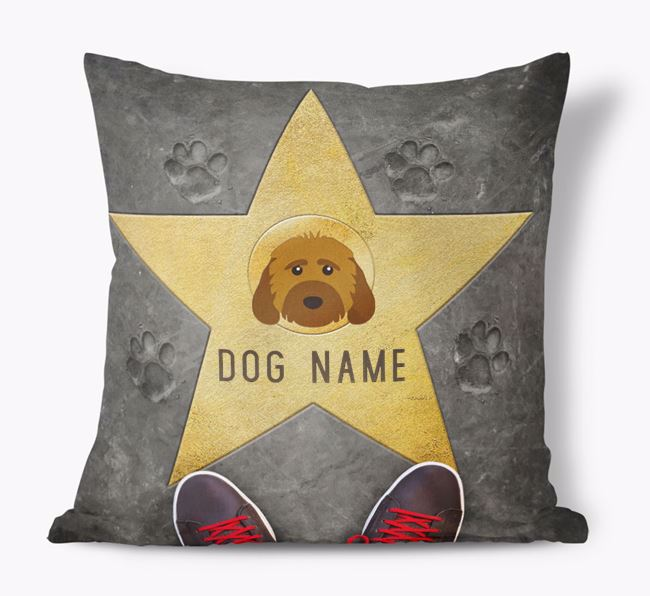 'Star of Fame' - Personalized Rescue Dog Soft Touch Cushion