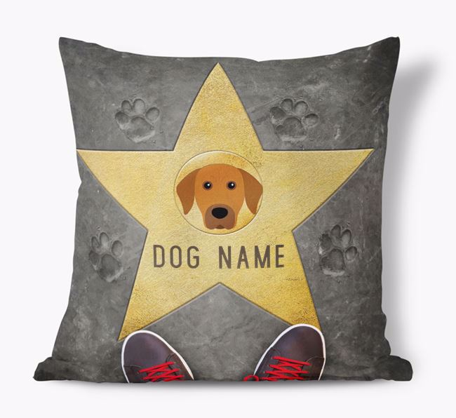 'Star of Fame' - Personalized Rhodesian Ridgeback Soft Touch Cushion
