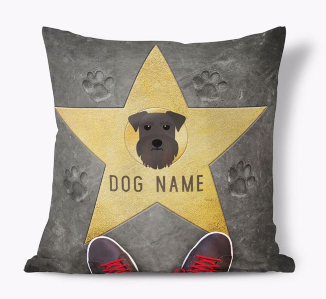 'Star of Fame' - Personalized Schnauzer Soft Touch Cushion