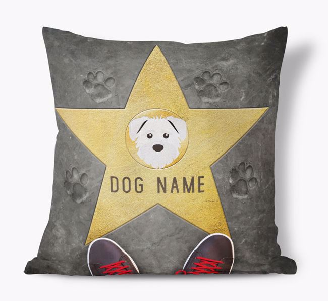 'Star of Fame' - Personalized Schnoodle Soft Touch Cushion