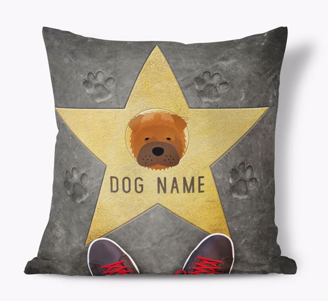 'Star of Fame' - Personalized Shar Pei Soft Touch Cushion