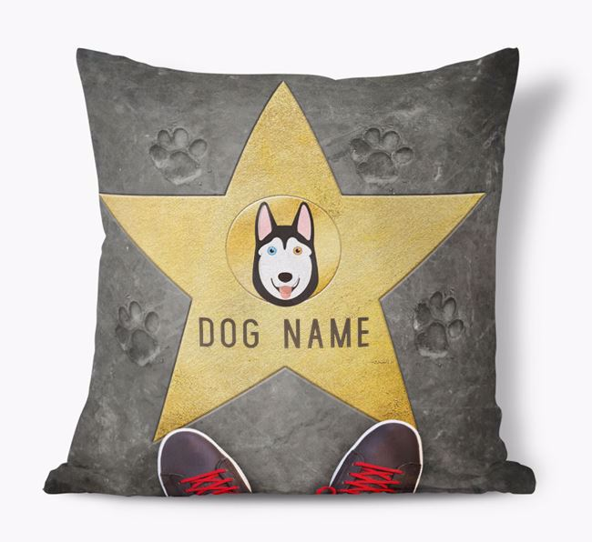 'Star of Fame' - Personalized Siberian Husky Soft Touch Cushion