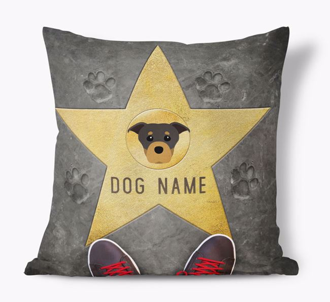 'Star of Fame' - Personalized Staffordshire Bull Terrier Soft Touch Cushion