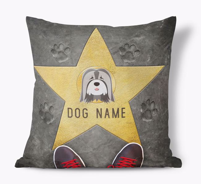 'Star of Fame' - Personalized Tibetan Terrier Soft Touch Cushion