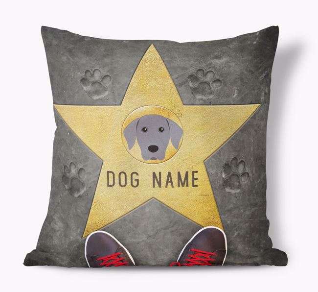 'Star of Fame' - Personalized Weimaraner Soft Touch Cushion
