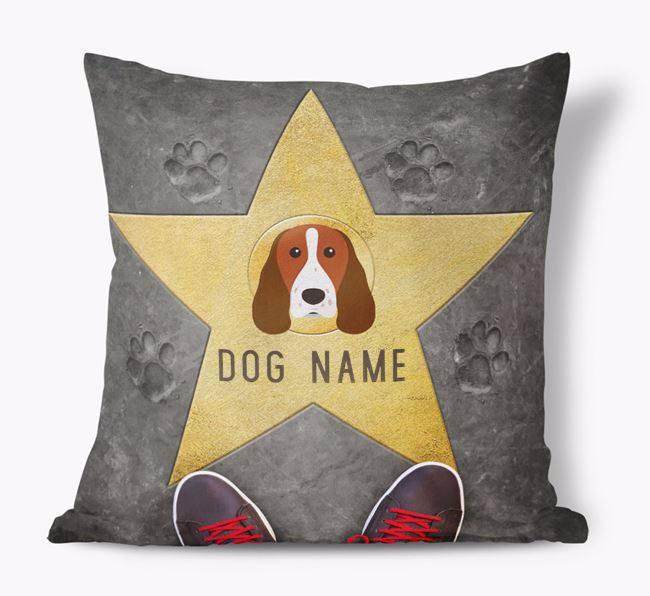 'Star of Fame' - Personalized Welsh Springer Spaniel Soft Touch Cushion
