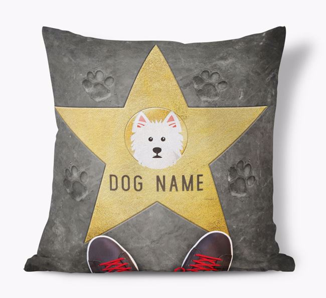 'Star of Fame' - Personalized West Highland White Terrier Soft Touch Cushion
