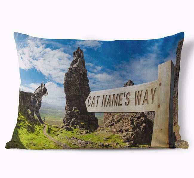 'Hiking Trail' - Personalized Cat Soft Touch Pillow