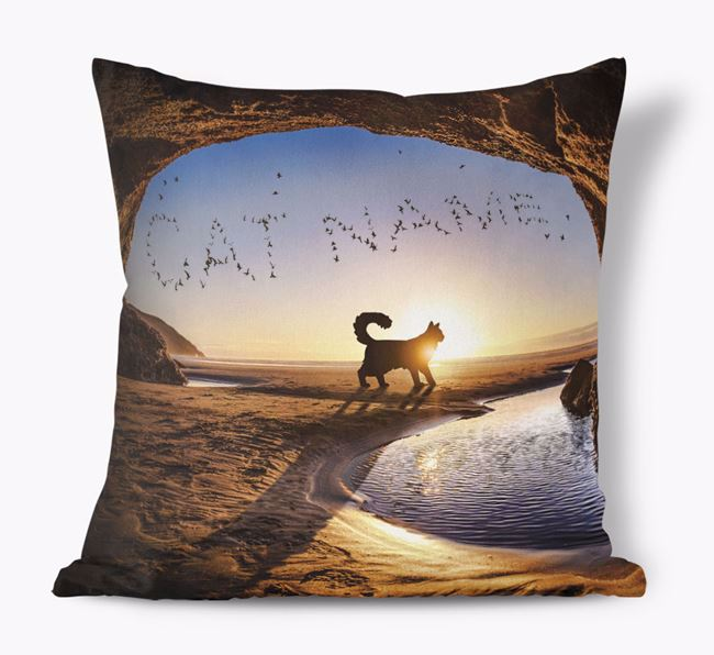'Sunset Cave' - Personalized Cat Soft Touch Pillow