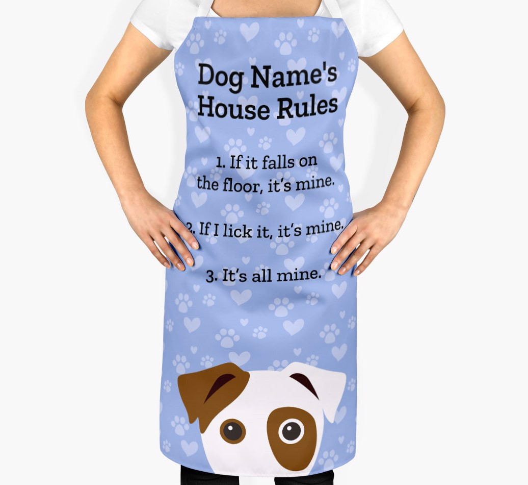 Personalised Dog Apron - '{dogsName}'s House Rules' - 2