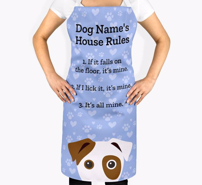Personalised 'Your Dog's House Rules' Apron