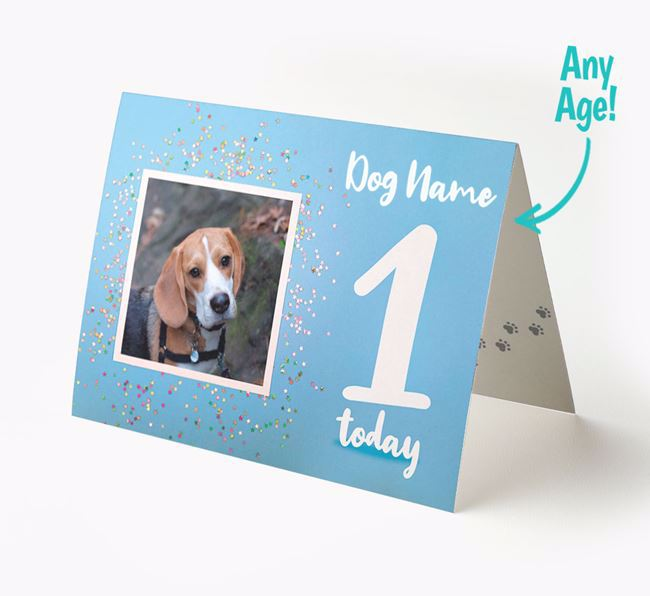Birthday Card featuring a Photo of your Beagle