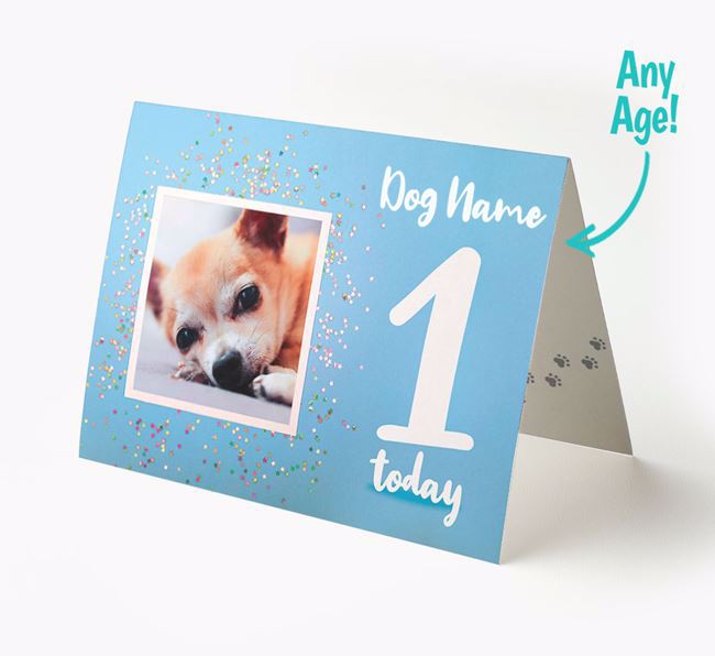 Birthday Card featuring a Photo of your Chihuahua