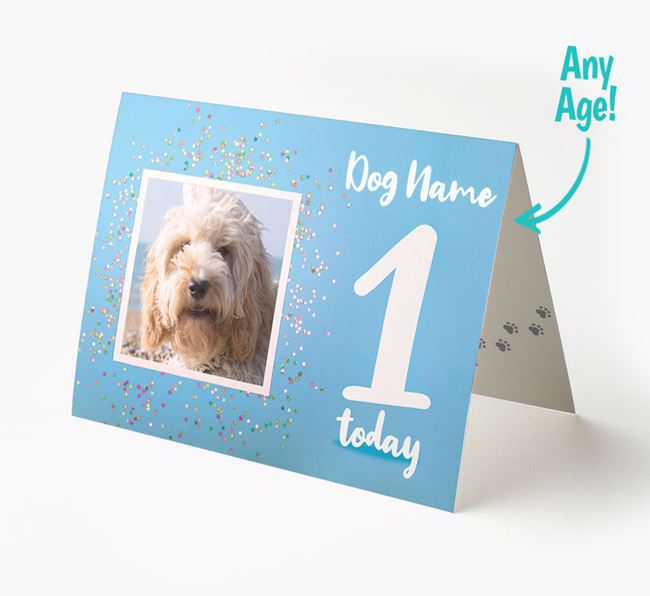 Birthday Card featuring a Photo of your Cockapoo
