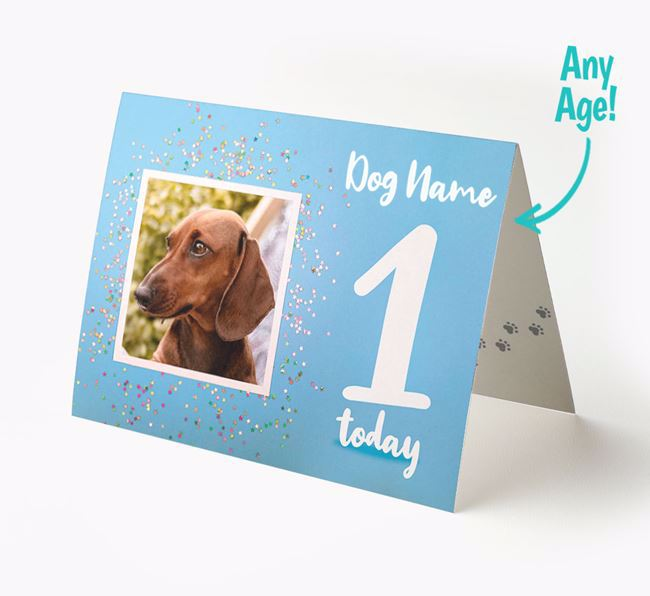 Birthday Card featuring a Photo of your Dachshund