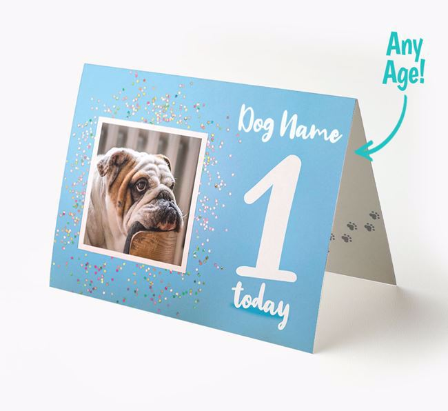 Birthday Card featuring a Photo of your English Bulldog
