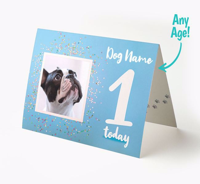 Birthday Card featuring a Photo of your French Bulldog